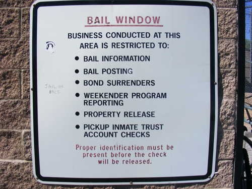 Bail Window Rules at the City Las Vegas Jail 3300 E. Stewart St. Las Vegas, NV