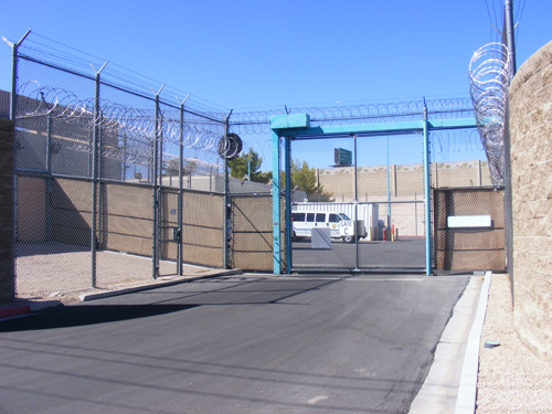 Entrance Gate C of the City of Las Vegas Jail