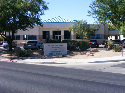 Front view of City Las Vegas Jail 3300 E. Stewart