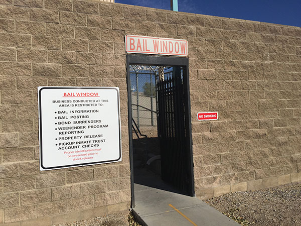 City Las Vegas Jail Bail Window
